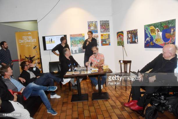 """General view of atmosphere during """"Le Cinema De Benoit Delepine Et Gustave Kevern"""" Book Signing Party At Halle Saint Pierre on September 15, 2021 in..."""