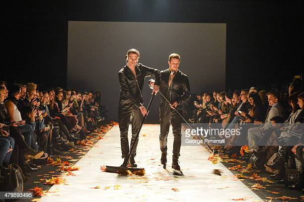 A general view of atmosphere during Mackage fall 2014 collection at World MasterCard Fashion Week Fall 2014 at David Pecaut Square on March 19 2014...