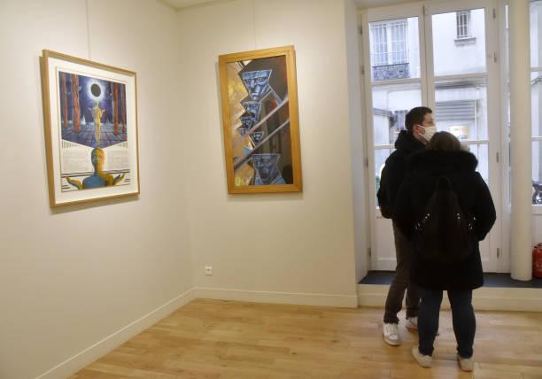 FRA: Mecha Sloane Philippe Druillet Exhibition At Galerie Barbier