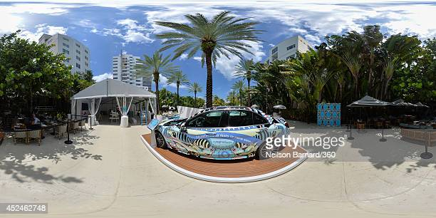 A general view of atmosphere during MercedesBenz Fashion Week Swim 2015 at The Raleigh on July 17 2014 in Miami Beach Florida