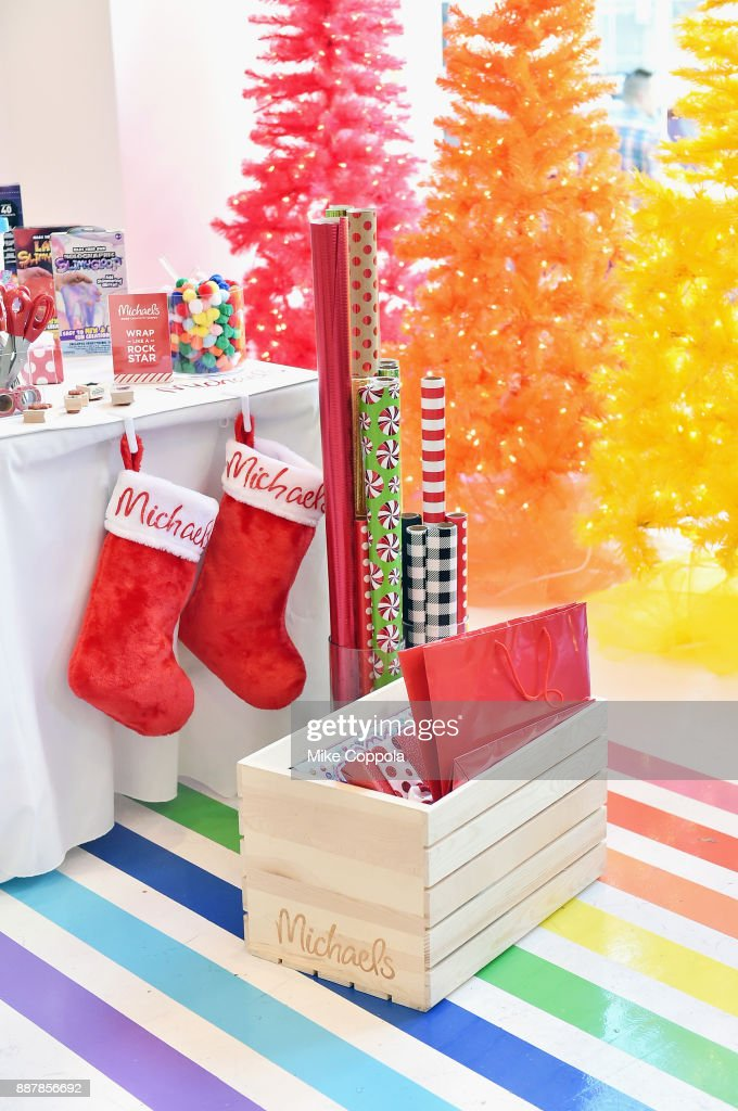 A general view of atmosphere during Michaels & Busy Philipps Holiday Gifting event on December 7, 2017 at Flour Shop in New York City.