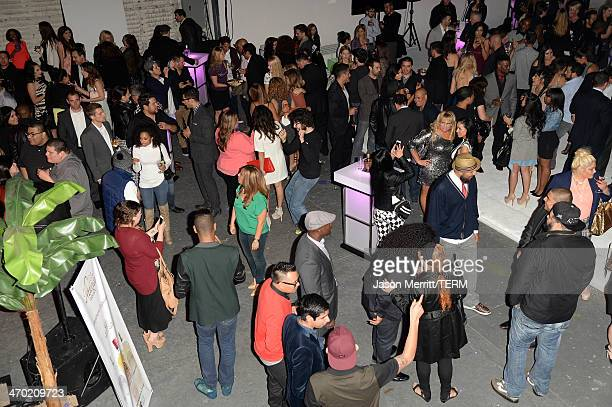 A general view of atmosphere during NUVOtv's spring launch premiere party featuring talent from 'The Collective powered by Vevo' and 'Nu Point Of...