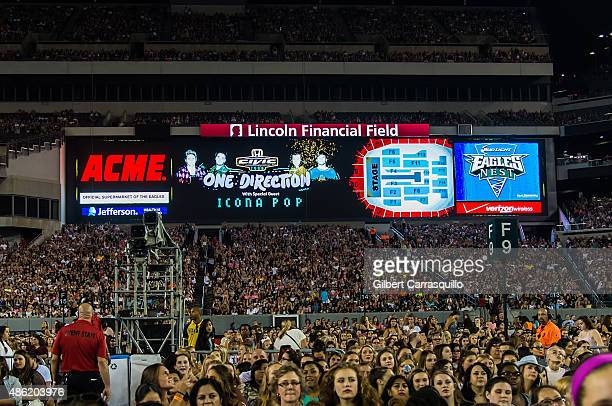 A general view of atmosphere during One Direction On the Road Again Tour 2015 at Lincoln Financial Field on September 1 2015 in Philadelphia...