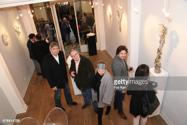 A general view of atmosphere during Parcours D'une Vorace Catherine Wilkening Sculptures Exhibition Preview and Book signing at Vivienne Art Galerie...