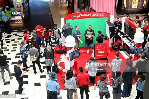 General view of atmosphere during RCA's Made For Moments Holiday Campaign at Glendale Galleria on December 12 2015 in Glendale California