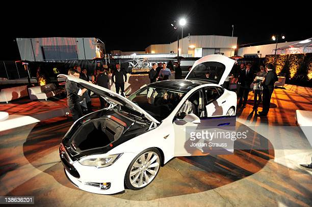 A general view of atmosphere during Tesla Worldwide Debut of Model X on February 9 2012 in Los Angeles California