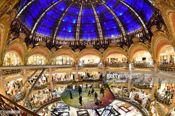 A general view of atmosphere during the 1 3Funorama Launch Party at The Galeries Lafayette Haussman on April 11 2019 in Paris France