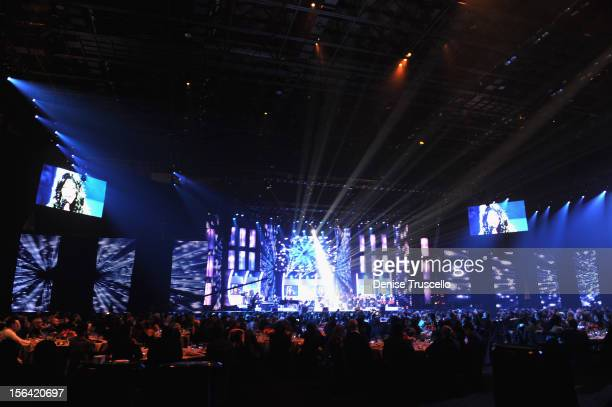 General view of atmosphere during the 2012 Person of the Year honoring Caetano Veloso at the MGM Grand Garden Arena on November 14 2012 in Las Vegas...