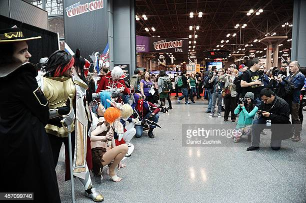 A general view of atmosphere during the 2014 New York Comic Con at Jacob Javitz Center on October 11 2014 in New York City