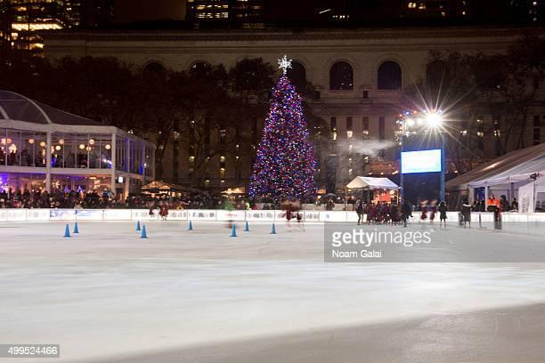 Bryant Park Christmas.World S Best Bryant Park Christmas Tree Lighting Stock
