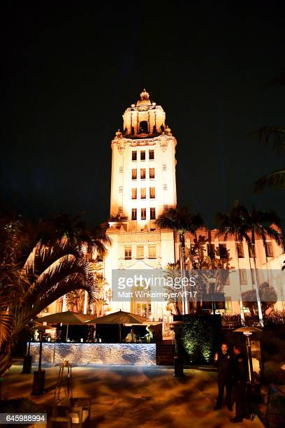 A general view of atmosphere during the 2017 Vanity Fair Oscar Party hosted by Graydon Carter at Wallis Annenberg Center for the Performing Arts on...