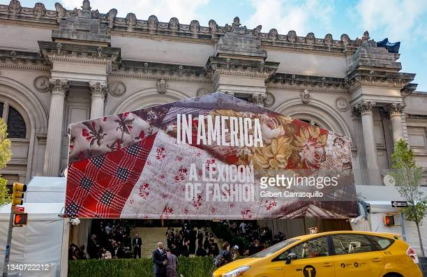 General view of atmosphere during The 2021 Met Gala Celebrating In America: A Lexicon Of Fashion at The Metropolitan Museum of Art on September 13,...