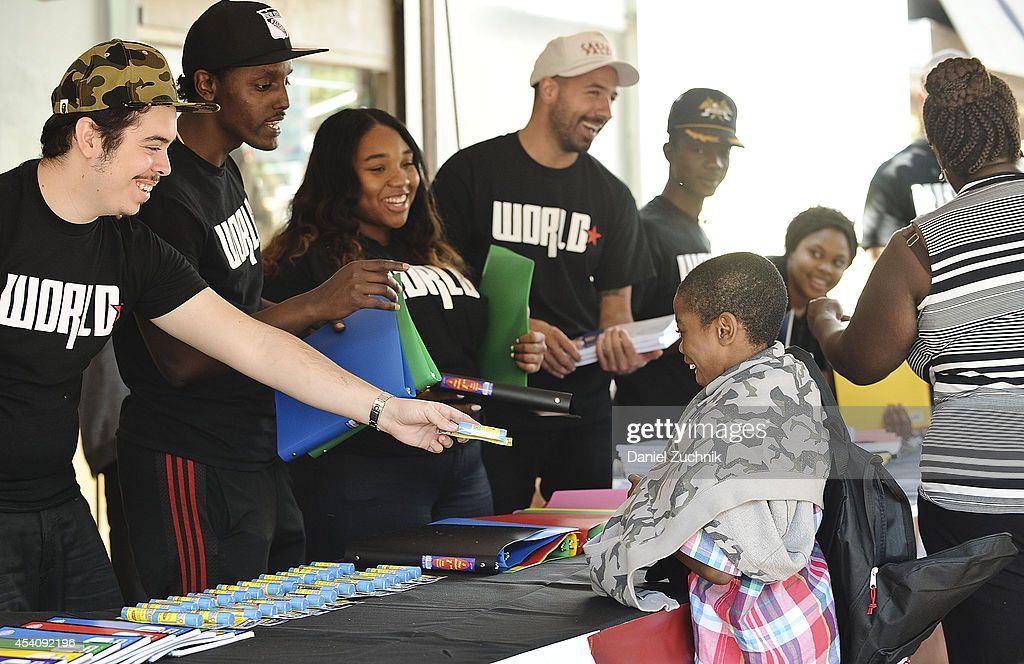 A general view of atmosphere during the 2nd Annual Worldstar Foundation Back To School Giveaway at Jamaica Colosseum Mall on August 24, 2014 in New York City.
