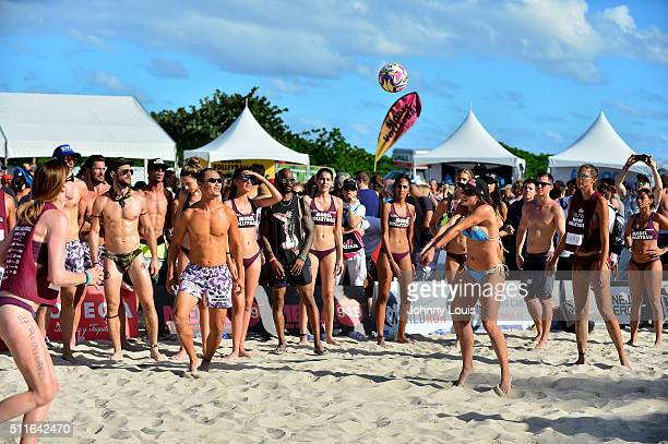 General view of atmosphere during the 7th annual Model Volleyball Tournament for South Beach Supremacy to benefit The Irie Foundation at Lummus Park...