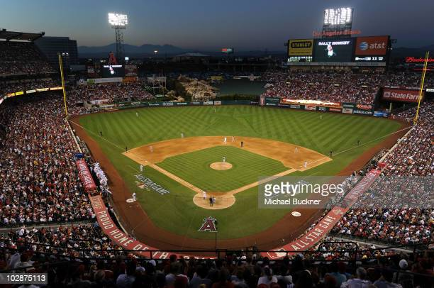 General view of atmosphere during the 81st MLB AllStar Game at Angel Stadium of Anaheim on July 13 2010 in Anaheim California
