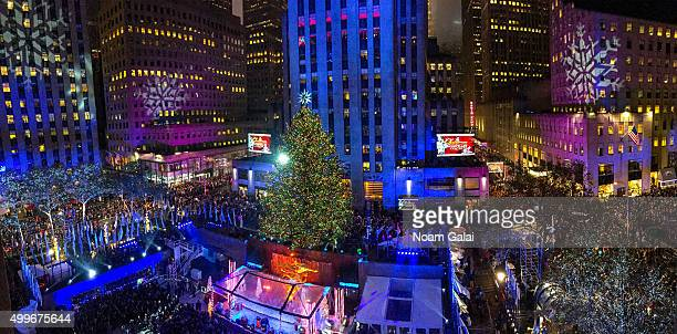 General view of atmosphere during the 83rd Rockefeller Center tree lighting 2015 on December 2 2015 in New York City
