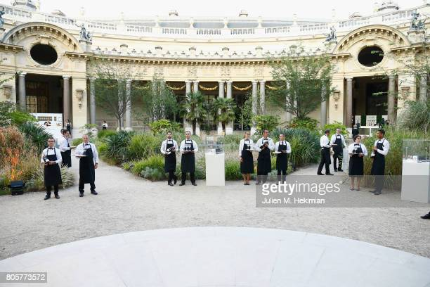 A general view of atmosphere during the amfAR Paris Dinner 2017 at Le Petit Palais on July 2 2017 in Paris FranceÊ