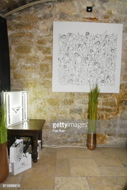 A general view of atmosphere during the Archiman Men Body Care Launch Party at 22 Rue de L'Universite on June 14 2018 in Paris France