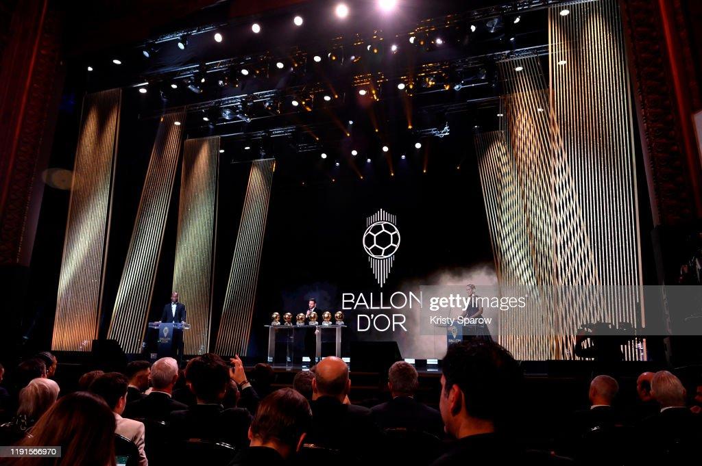 Ballon D'Or Ceremony At Theatre Du Chatelet : Inside Ceremony In Paris : ニュース写真