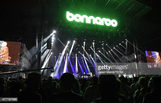 General view of atmosphere during the Billy Joel performance at the 2015 Bonnaroo Music & Arts Festival - Day 4 on June 14, 2015 in Manchester,...