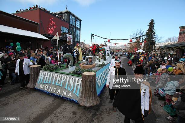 A general view of atmosphere during the Black Star Beer Barter 2012 on February 4 2012 in Whitefish Montana