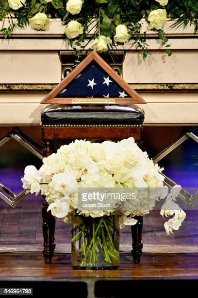 A general view of atmosphere during the Celebration of Life For Troy GentryThe presented flag was pressed and respectfully folded by the 101st...