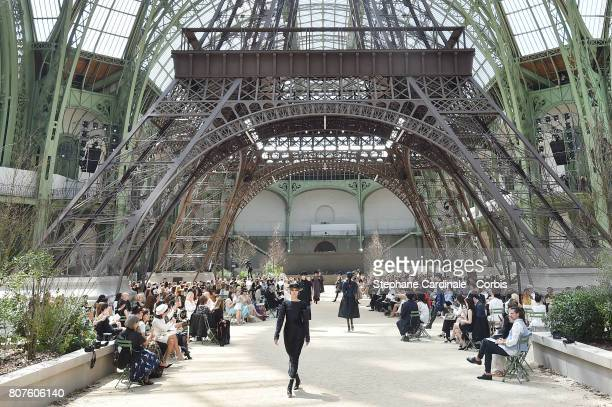 General view of atmosphere during the Chanel Haute Couture Fall/Winter 20172018 show as part of Haute Couture Paris Fashion Week on July 4 2017 in...