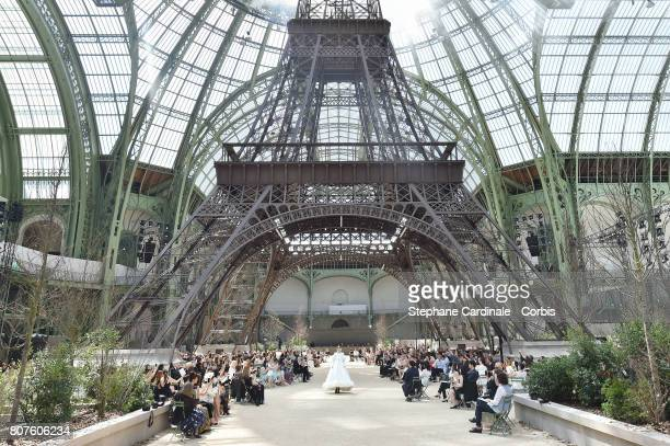 General view of atmosphere during the Chanel Haute Couture Fall/Winter 2017-2018 show as part of Haute Couture Paris Fashion Week on July 4, 2017 in...