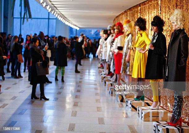 A general view of atmosphere during the Chris Benz fall 2012 presentation during MercedesBenz Fashion Week at Avery Fisher Hall Grand Promenade on...