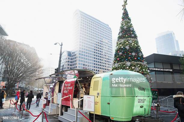 General view of atmosphere during the 'Did You Check eBay' Holiday Airstream tour at Westlake Center Plaza on December 9 2017 in Seattle Washington