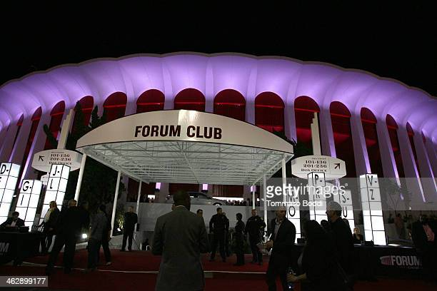 A general view of atmosphere during The Eagles performance at the grand opening of the newly renovated Forum on January 15 2014 in Inglewood...