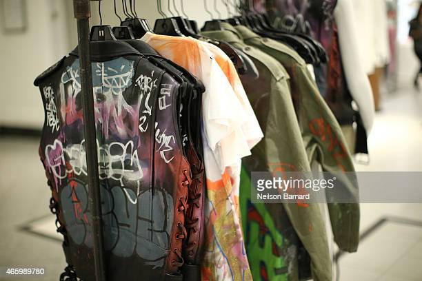 A general view of atmosphere during the Faith Connexion Street Art Tour hosted by Saks Fifth Avenue and Marie Claire at Saks Fifth Avenue on March 12...