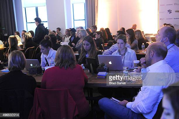 A general view of atmosphere during 'The Fast Company Innovation Festival' Data Drugs The New Evolution Of Drug Making With 23andMe And Sprout on...