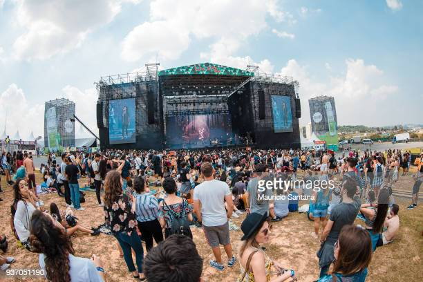 General view of atmosphere during the first day of Lollapalooza Brazil at Interlagos Racetrack on March 23, 2018 in Sao Paulo, Brazil.