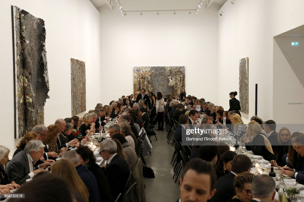 A general view of atmosphere during the 'Fur Andrea Emo' Anselm Kiefer's Exhibition at Thaddeus Ropac Gallery on February 10, 2018 in Paris, France.