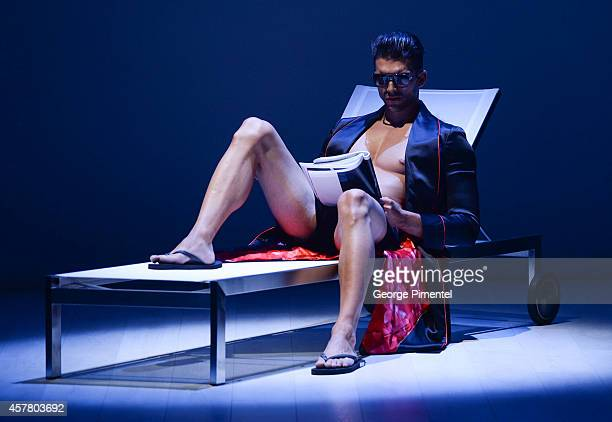 A general view of atmosphere during the HD Homme spring 2015 collection during World MasterCard Fashion Week Spring 2015 at David Pecaut Square on...
