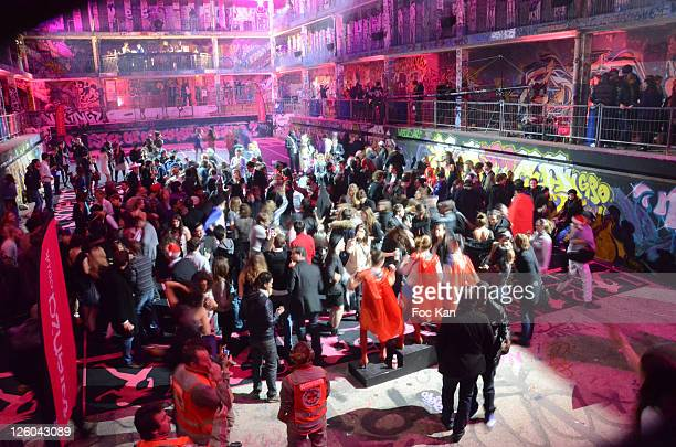 A general view of atmosphere during the 'High Heel Race' Hosted by Sarenza Shoes at the Piscine Molitor on December 3 2010 in Paris France