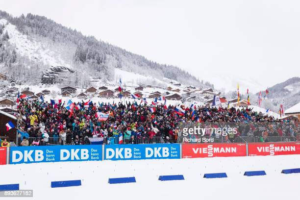 General view of atmosphere during the IBU Biathlon World Cup Men's Sprint on December 15, 2017 in Le Grand Bornand, France.