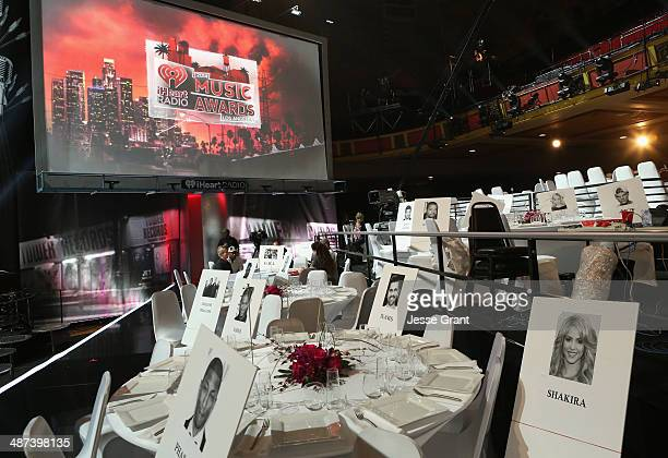 A general view of atmosphere during the iHeartRadio Music Awards Press Day at The Shrine Auditorium on April 29 2014 in Los Angeles California