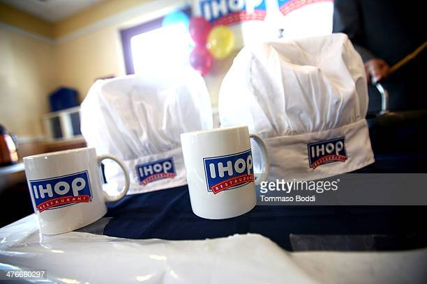 A general view of atmosphere during the IHOP's National Pancake Day fundraiser in LA held at IHOP on March 4 2014 in Hollywood California