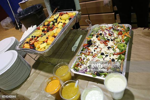 A general view of atmosphere during the Jean Shafiroff Jay Moorhead Underwrite Annual Community Thanksgiving Dinner at NYC Mission Society at...