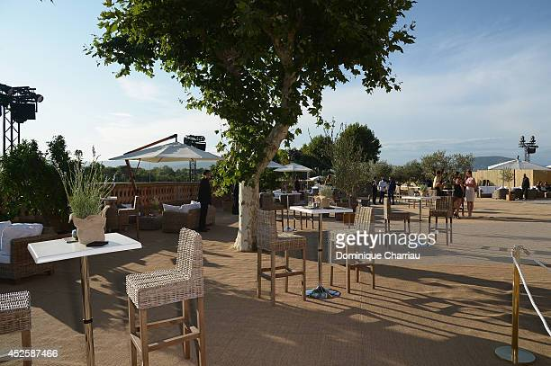 A general view of atmosphere during the Leonardo Dicaprio Gala at Domaine Bertaud Belieu on July 23 2014 in SaintTropez France