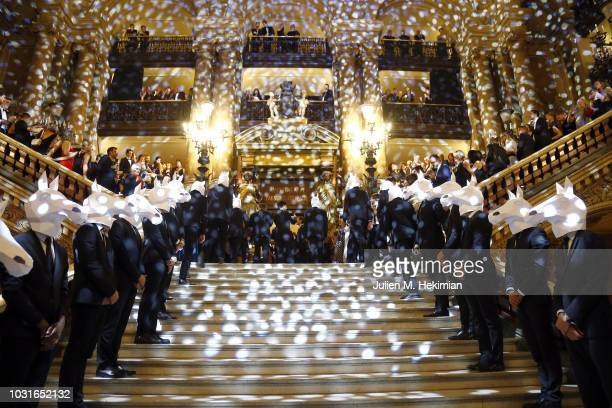 A general view of atmosphere during the Longchamp 70th Anniversary Celebration at Opera Garnier on September 11 2018 in Paris France