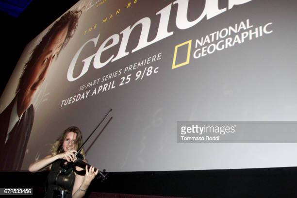 A general view of atmosphere during the Los Angeles Premiere Screening of National Geographics 'Genius' the Fox Theater on April 24 2017 in Los...