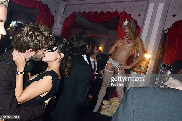 A general view of atmosphere during the Marc Dorcel 35th Anniversary Masked Ball at the Chalet des Iles on October 10 2014 in Paris France