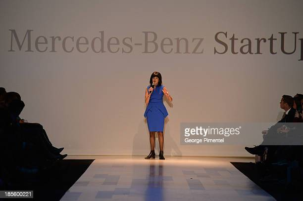 A general view of atmosphere during the MercedesBenz StartUp national final at World MasterCard Fashion Week Spring 2014 at David Pecaut Square on...