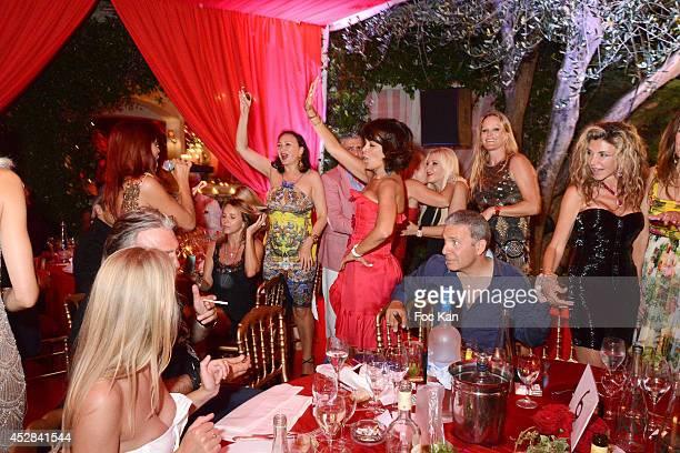 A general view of atmosphere during the Monika Bacardi Summer Party 2014 St Tropez at Les Moulins de Ramatuelle on July 27 2014 in Saint Tropez...