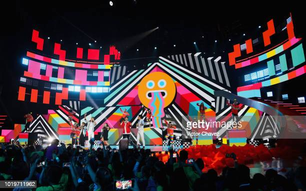 A general view of atmosphere during the Nickelodeon Kids' Choice Awards Mexico 2018 at Auditorio Nacional on August 19 2018 in Mexico City Mexico
