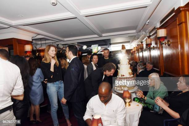 A general View of atmosphere during the Nicolas Mereau Birthday Party At Club 13 on April 6 2018 in Paris France