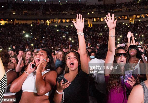 General view of atmosphere during the 'One Hell of a Nite' tour at Nikon at Jones Beach Theater on August 30 2015 in Wantagh New York